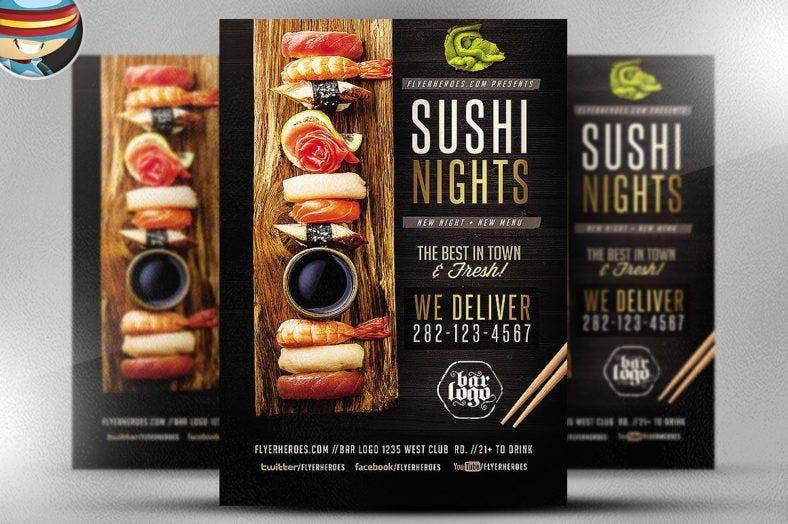 sushi nights flyer template cm 1  788x524