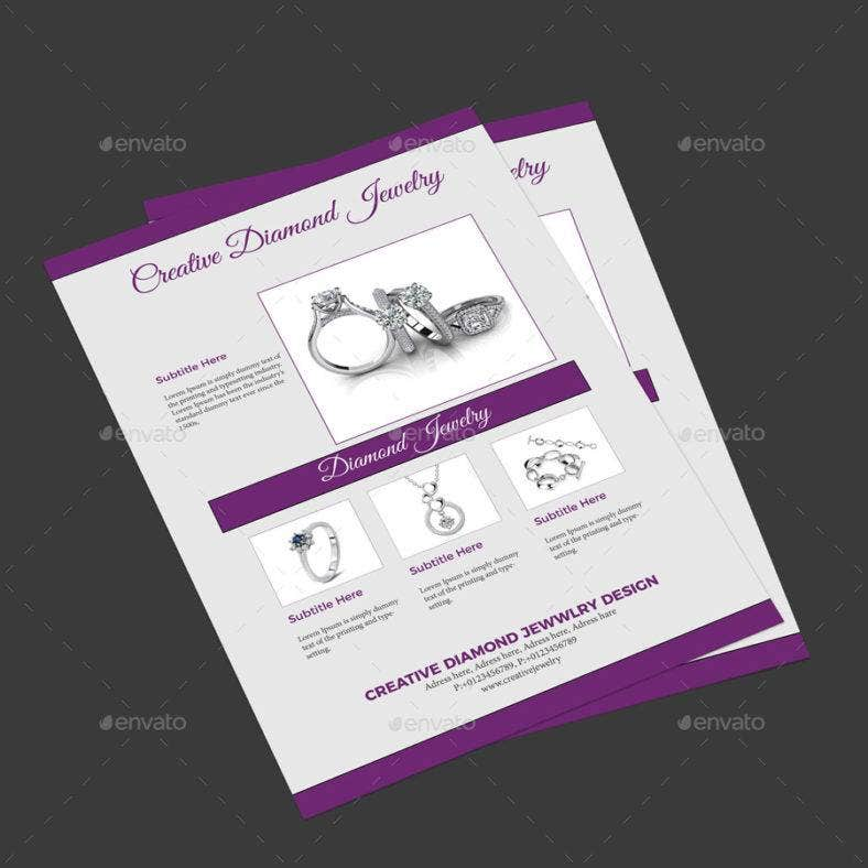 9 Jewellery Flyer Free Premium Templates