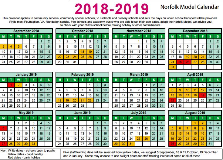 2018 model calendar