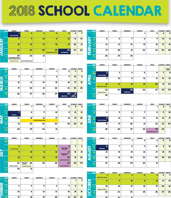Calendar Design Ideas For Schools : Free calendar templates designs for psd doc