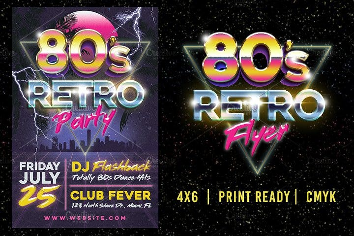 11+ 80s Party Flyer Designs & Templates - PSD, AI | Free & Premium