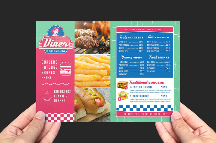 a5-american-diner-takeaway-flyer-template