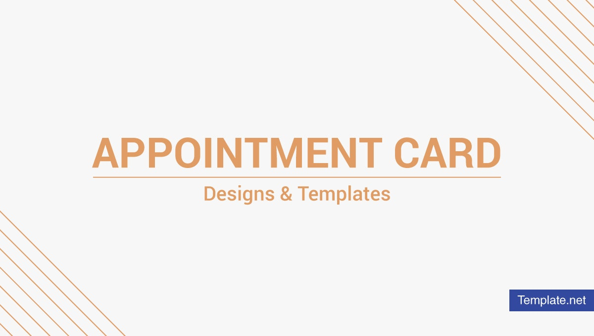 appointment card designs templates