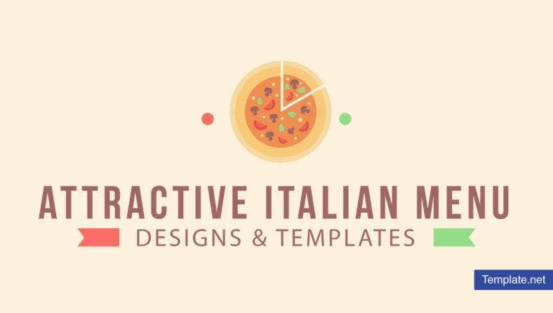 Attractive Italian Menu Design