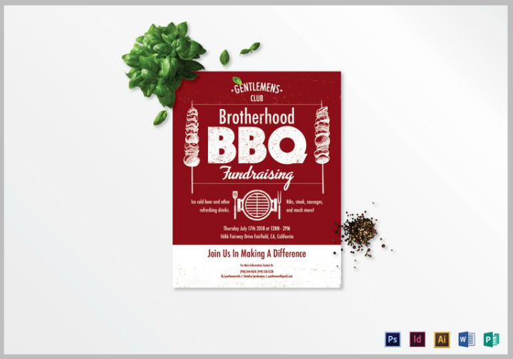 barbecue-restaurant-fundraising-flyer-template