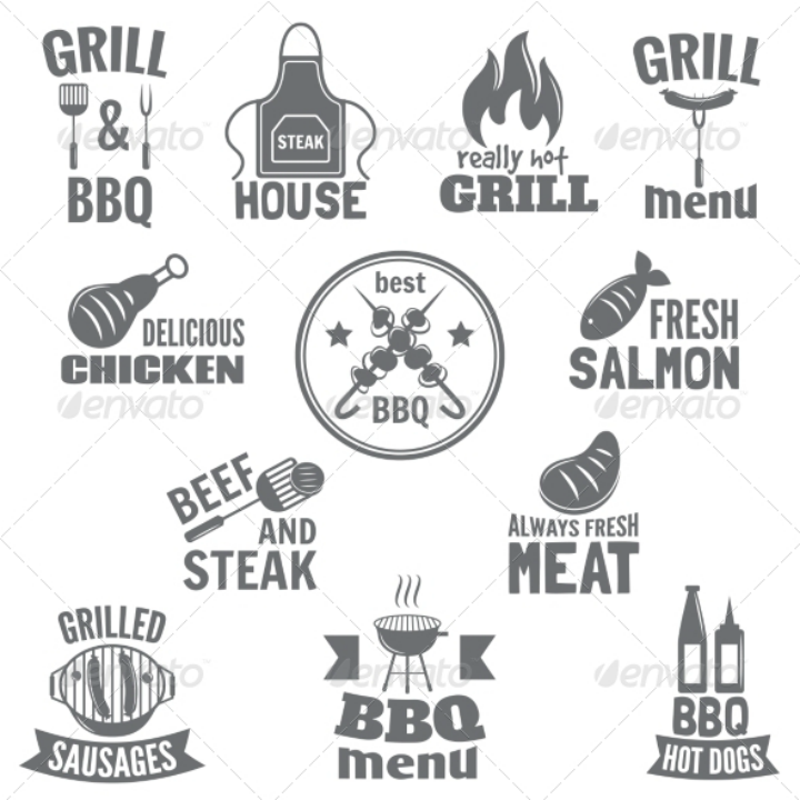 bbq-grill-restaurant-menu-label-template