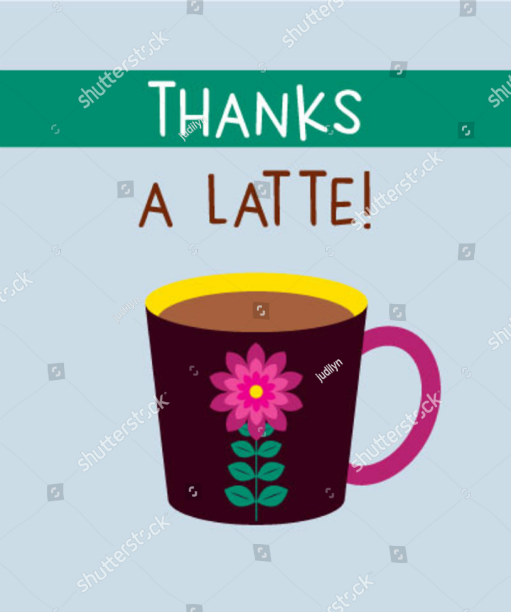 cafe restaurant thank you card template