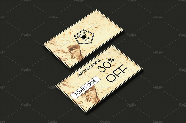 coffee shop discount card template