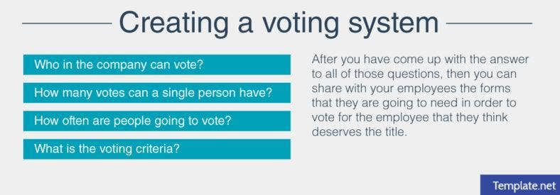 Creating a voting system