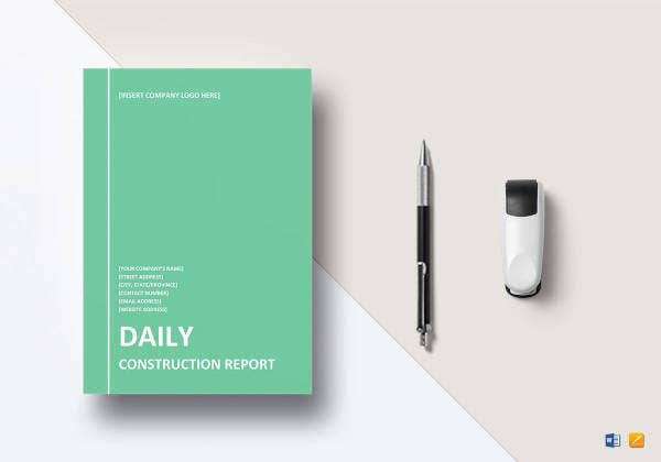 daily-construction-report-template