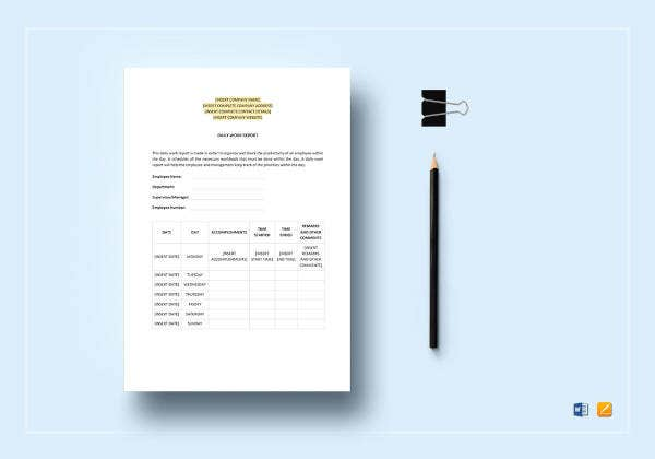 daily-work-report-template