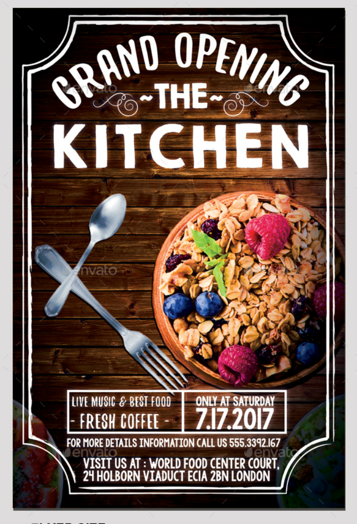 23 + Restaurant Grand Opening Flyer Templates - AI, PSD ...