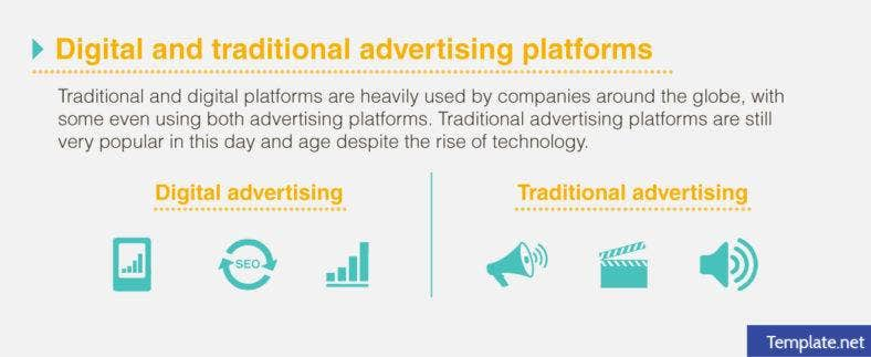 Digital and traditional advertising platforms