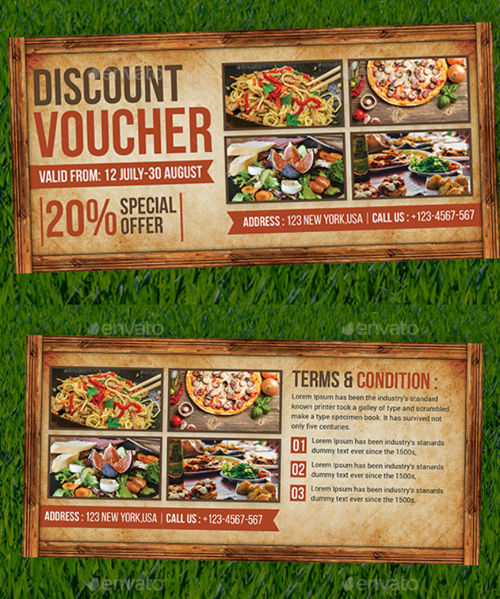 elegant discount voucher card template