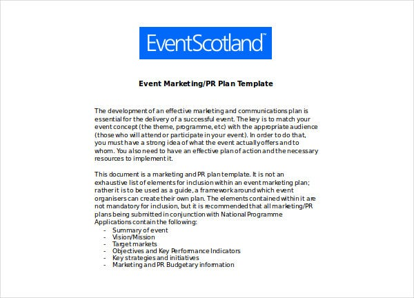 event product marketing plan 1