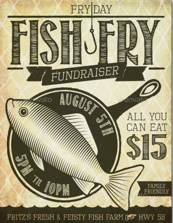 fish-fry-restaurant-fundraiser-flyer-template