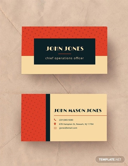 23 Red Business Card Templates Word Psd Ai Free Premium