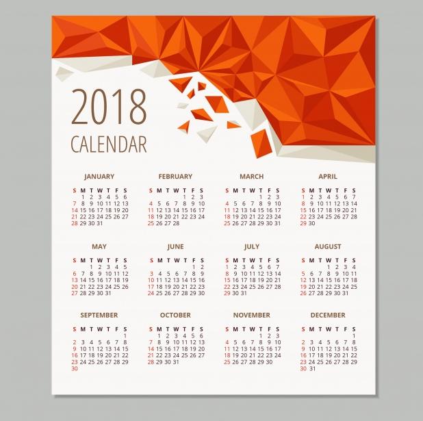 geometric-2018-calendar-design