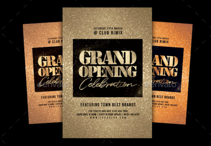 gold-restaurant-opening-flyer-invention-template