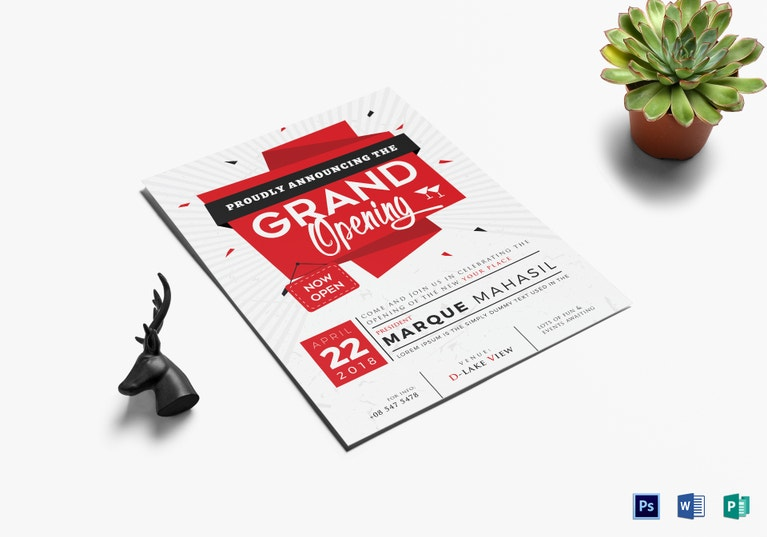 Restaurant Grand Opening Flyer Designs  Templates  Psd Ai