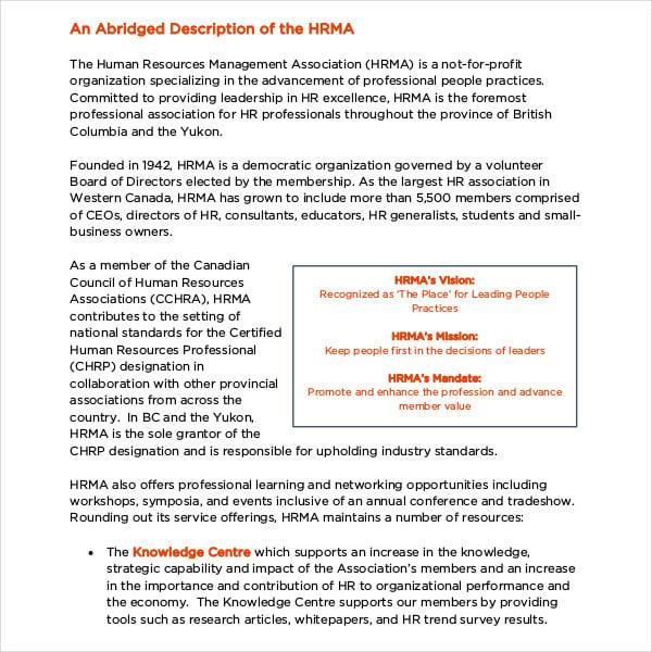hr management association strategic plan