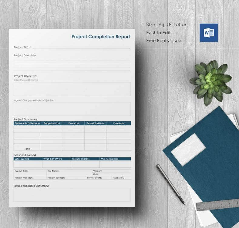 Project Completion Report Document