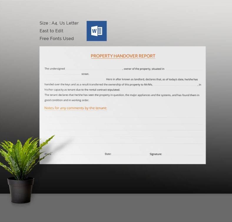 Rental Property Handover Report