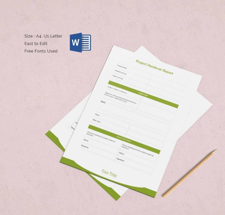 Project Documents Handover Report