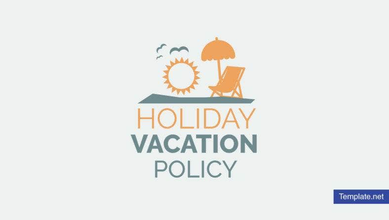 Holiday Vacation Policy Template
