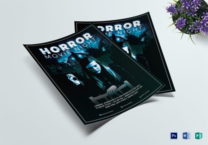 horror movie night flyer template 767x537 e1516261837432