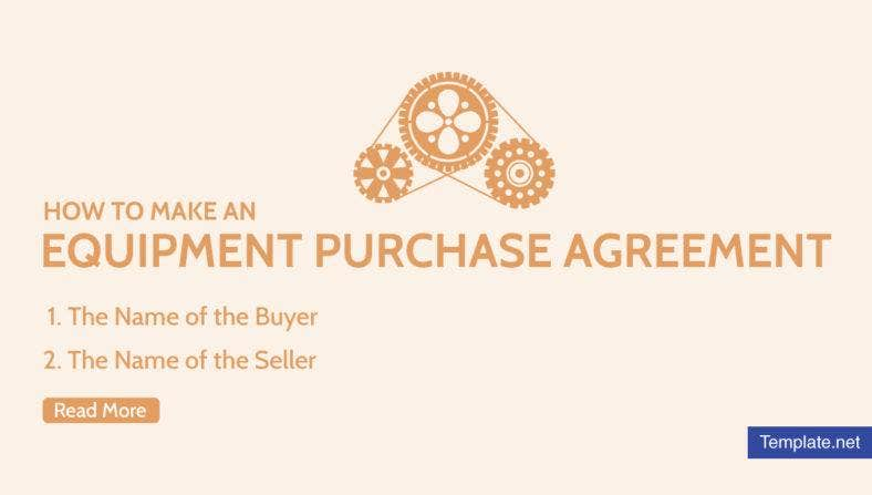 How to Make an Equipment Purchase Agreement