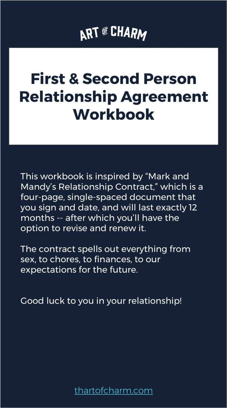how to write a relationship contract agreement