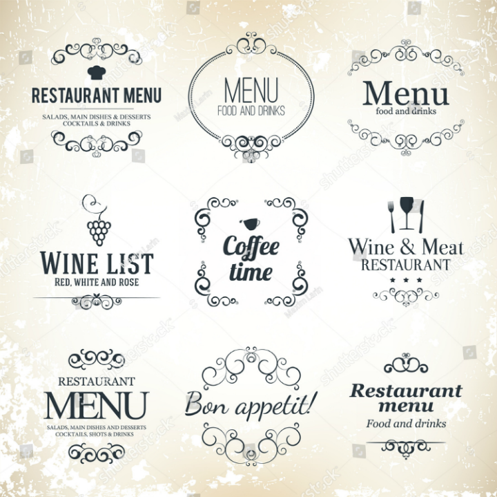 label-set-restaurant-menu-design-template