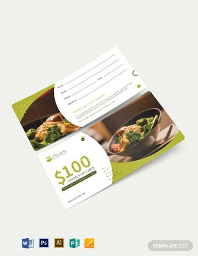 lunch food voucher template