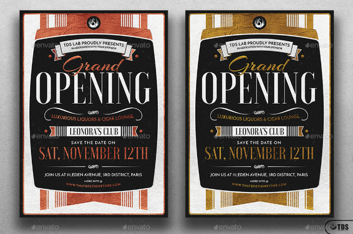 luxurious-restaurant-grand-opening-flyer-template