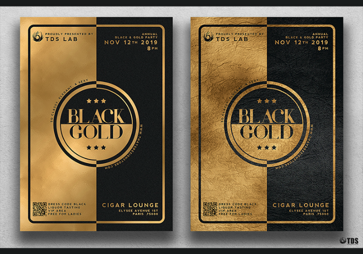 minimal-black-and-gold-restaurant-invitation-template