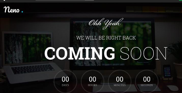 neno premium coming soon template