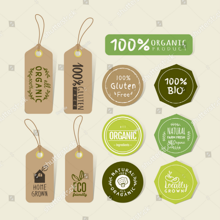 organic-food-label-tag-template