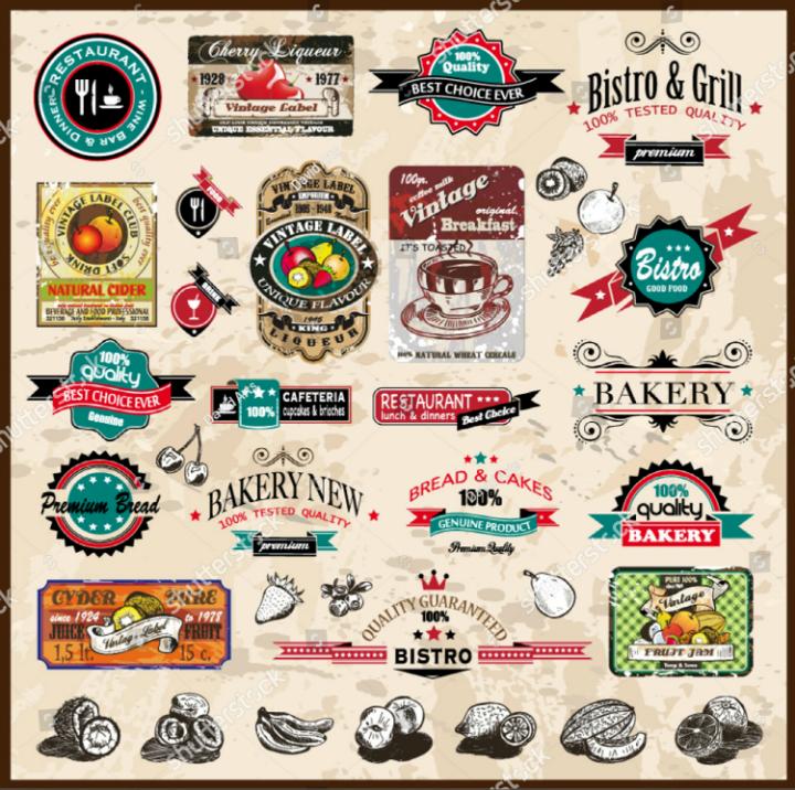 premium-vintage-restaurant-bistro-label-tags-collection