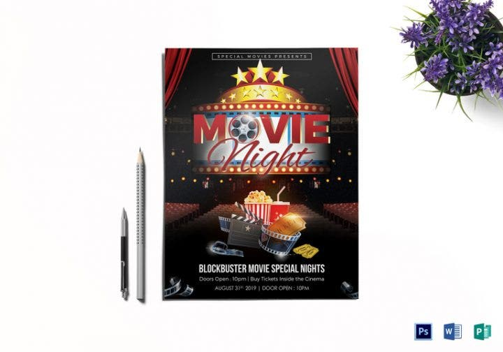 18  movie flyer designs  u0026 templates