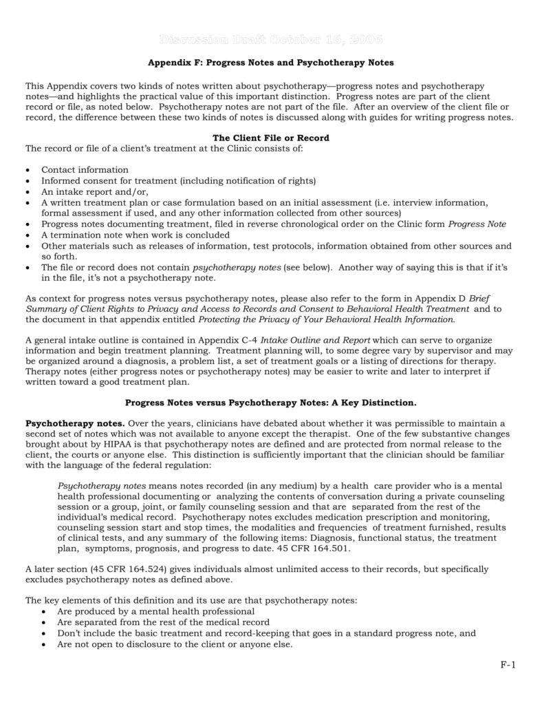 8+ Psychotherapy Note Templates for Good Record-Keeping - PDF | Free ...