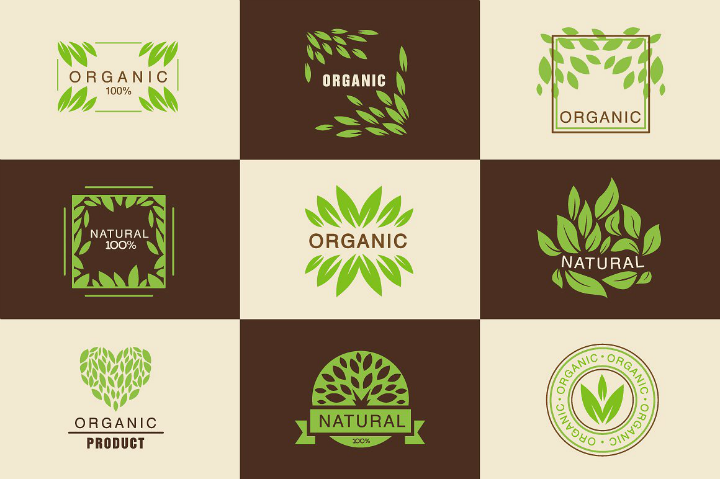 restaurant-eco-organic-labels-tag-set