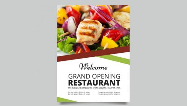 restaurant grand opening flyers