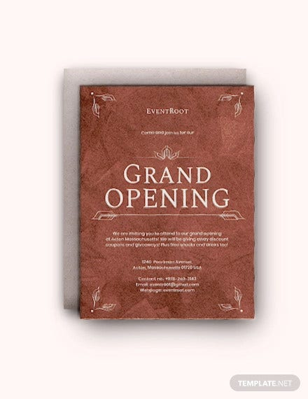 restaurant grand opening invitation template