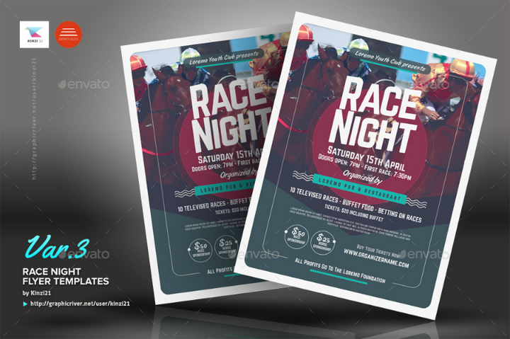 restaurant-race-night-fundraising-flyer-template