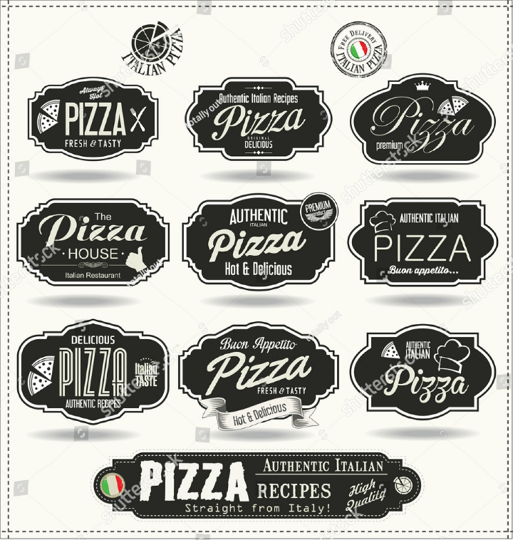 retro-black-pizza-restaurant-labels-template-collection