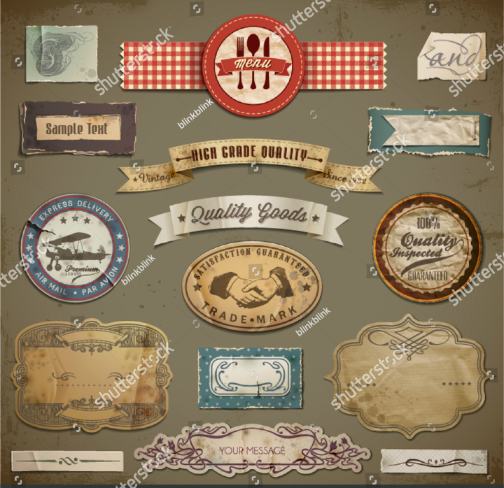Restaurant label tag templates psd ai free