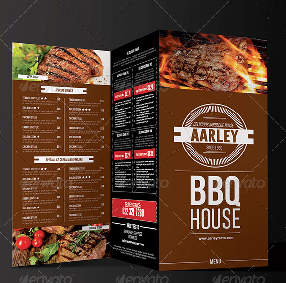 11 Minimalist Bbq Menu Ai Psd Google Docs Apple Pages