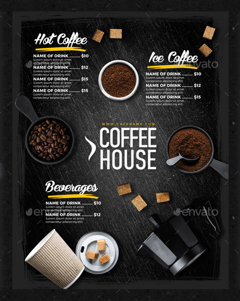15  Coffee Shop Menu Designs  U0026 Templates