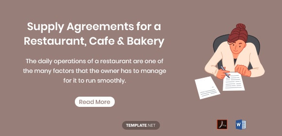 6 Cafe Stoelen.6 Supply Agreements For A Restaurant Cafe Bakery Pdf Free